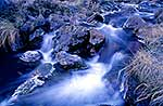 Frosty mountain stream