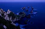 Nugget Point lighthouse, nightfall