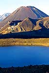 Blue Lake, Mt Ngauruhoe and Ruapehu