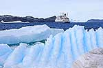 Ice patterns & ship, Antarctica