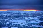 Sunset over Antarctica sea & ice