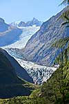 Fox Glacier flowing from Alps