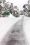 Snow covered roadway