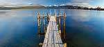 Calm morning on jetty at Te Anau