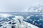 Sailing in pack ice , Antarctica